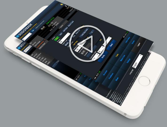 Mobile trading platform